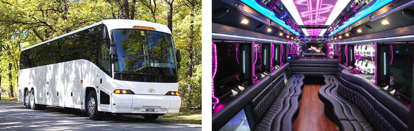 50 passenger party bus meridian